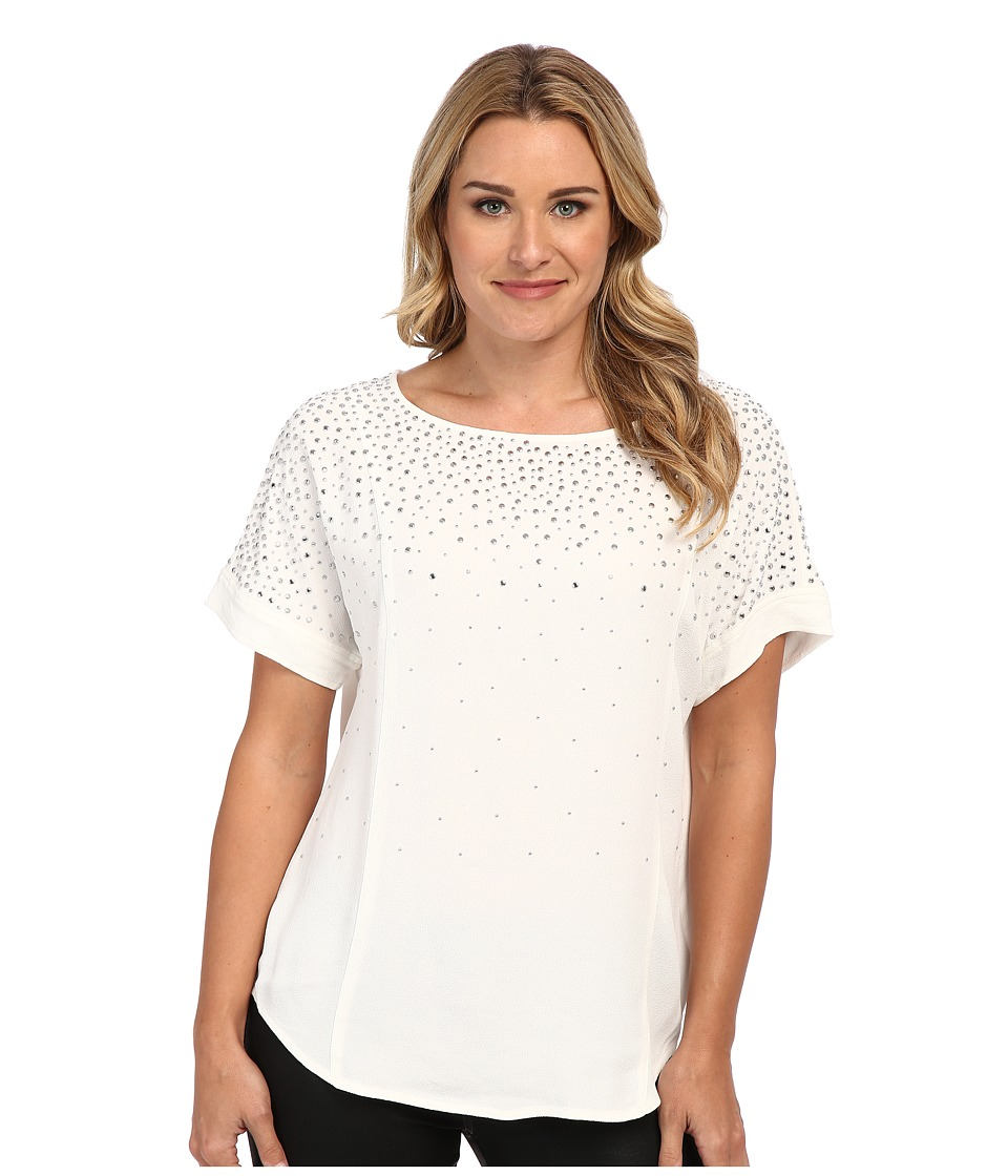 MICHAEL Michael Kors - Scatter Stud Top (Ecru) Women's T Shirt