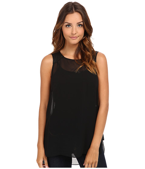 BCBGeneration - Contrast Panel Tunic VDW1T115 (Black) Women's Blouse
