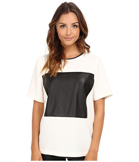 BCBGeneration - Binded Blocked Top GEF1T036 (Whisper White) Women's T Shirt