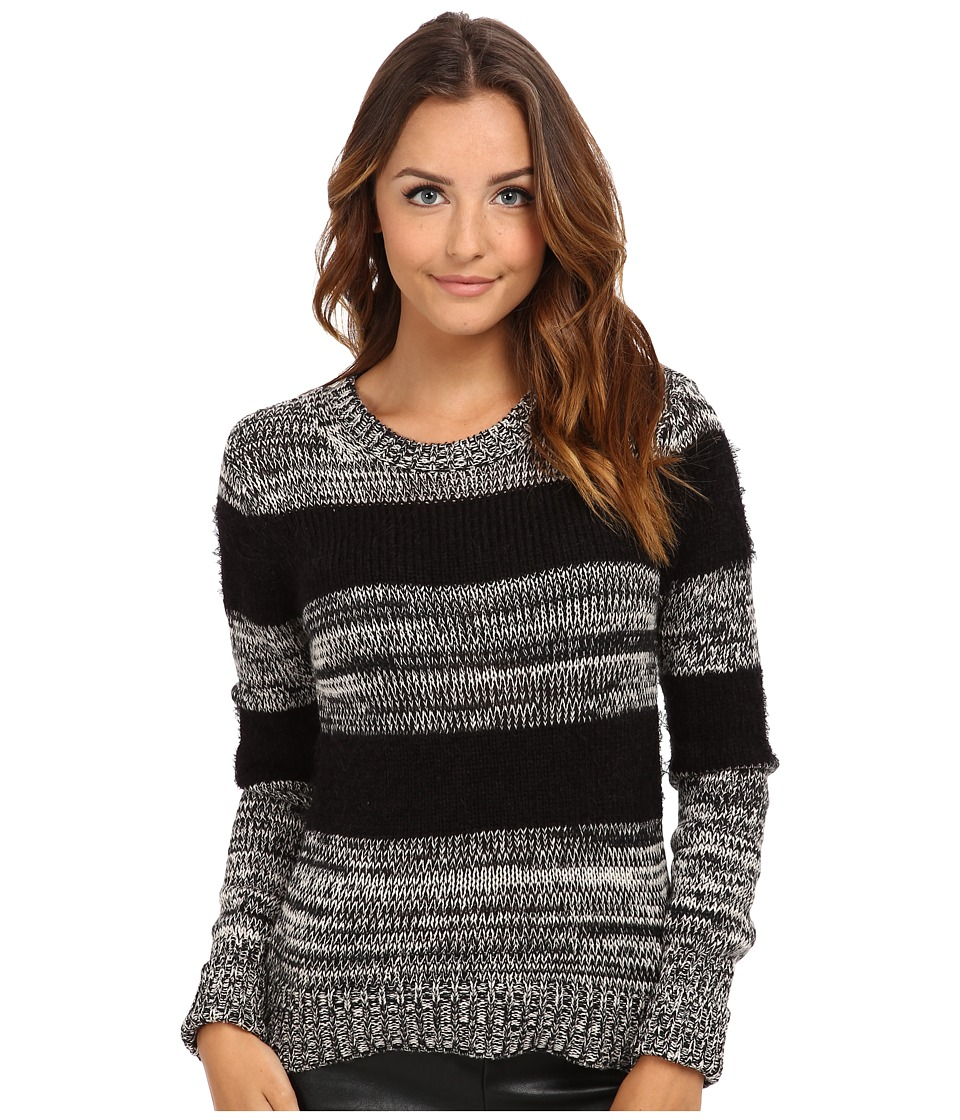 BCBGeneration - Mixed Marled Crew Neck Sweater DVL1S999 (Black Combo) Women's Sweater