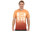 DKNY Jeans S/S Dip Dye Logo Crew Neck Premium Tee (Dusty Orange)