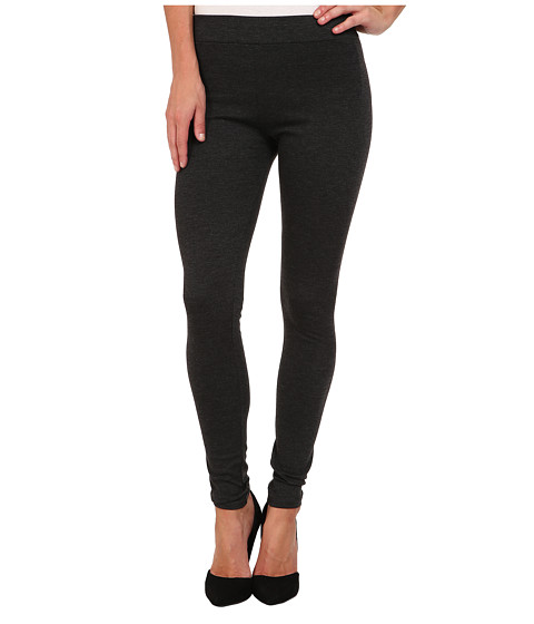 BCBGeneration - Solid Ponte Legging (Charcoal Heather Grey) Women