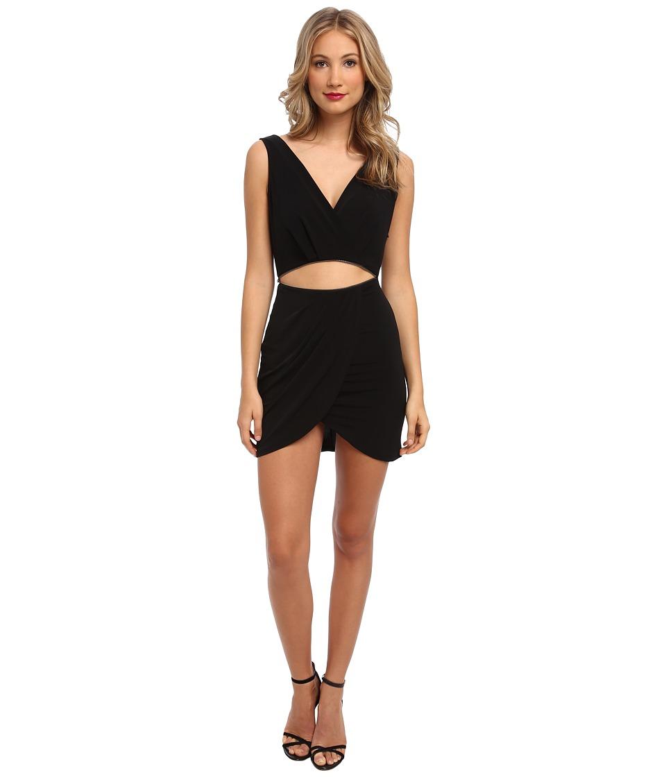 BCBGeneration - Low Neck Dress w/ Tulip YDM69B90 (Black) Women's Dress