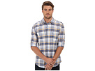 DKNY Jeans L/S Roll Tab Linen Blend Plaid Shirt - Casual Press (Vintage Indigo)