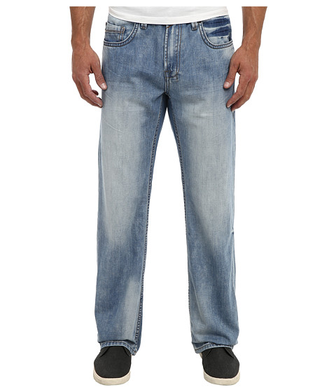 Buffalo David Bitton - Travis Relaxed Straight Lucas Blue in Rigid Damaged (Rigid & Damaged) Men's Jeans