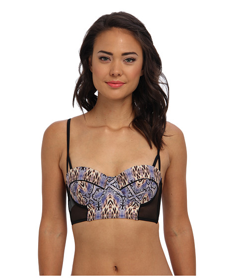 MINKPINK - Animal Flame Bralette Bikini Top (Multi) Women's Bra