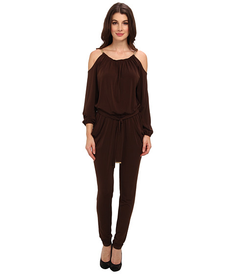 MICHAEL Michael Kors - Chain Strap Jumpsuit (Chocolate) Women