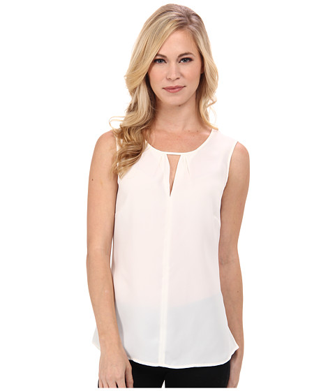 NIC+ZOE - Petite Keyhole Top (Bone) Women's Sleeveless