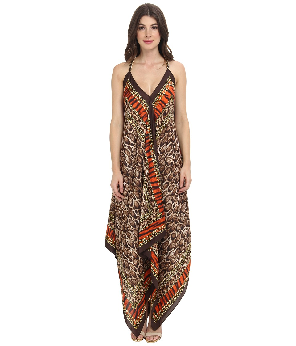 MICHAEL Michael Kors - Kasai Scarf Print Dress (Poppy) Women's Dress