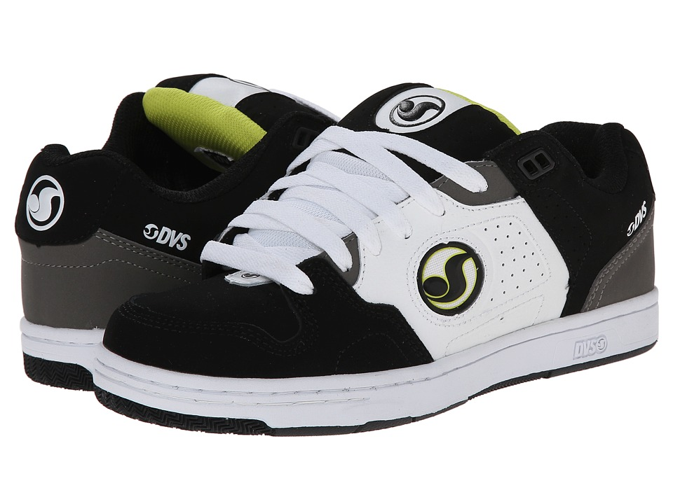 DVS Shoe Company - Discord (Black Lime) Men's Skate Shoes