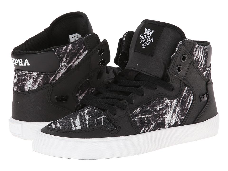 Supra - Vaider (Black/White/Print) Women's Skate Shoes