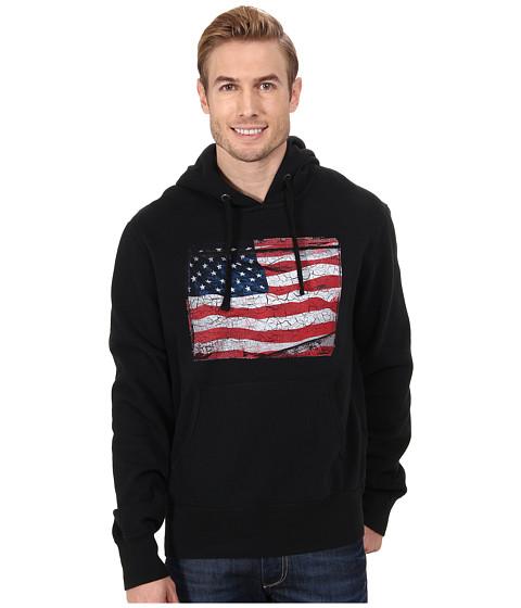 Roper - Vintage Patriotic Crackled Patriotic Flag (Black) Men