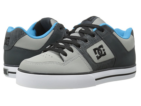 DC - Pure (Grey/Grey/Blue) Men's Skate Shoes