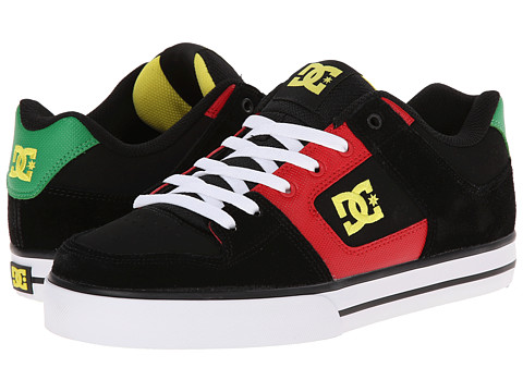 DC – Pure (Black/Red/Green) Men's Skate Shoes