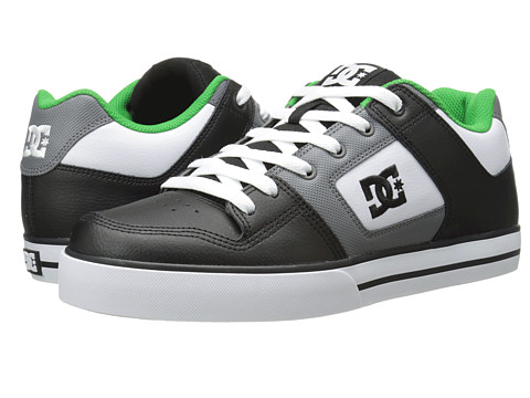DC – Pure (Black/Grey/Green) Men's Skate Shoes