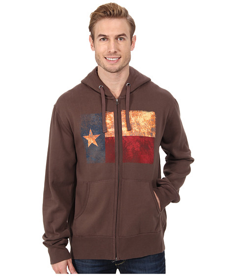 Roper - Vintage Texas Flag Hoodie (Brown) Men's Sweatshirt