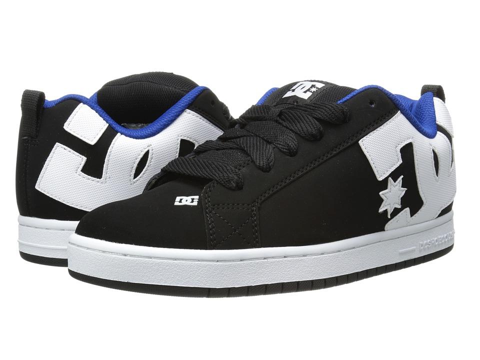DC - Court Graffik (Black/White/Blue) Men's Skate Shoes