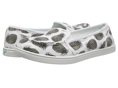 Roxy - Lido II (Black/White/White) Women's Slip on Shoes