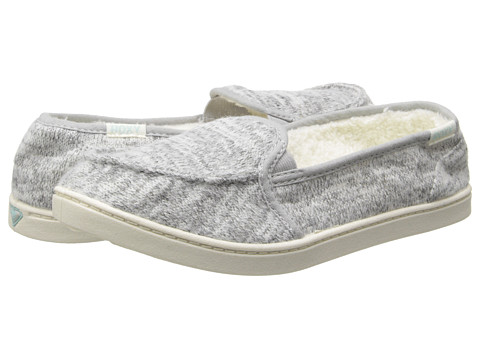 Roxy - Lido Wool II (Light Grey) Women's Slip on Shoes