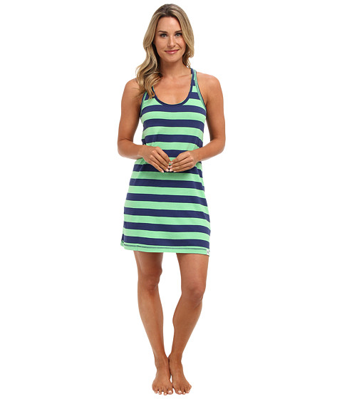 Tommy Hilfiger - Striped Racerback Chemise (Rugby Stripe Navy/Green) Women