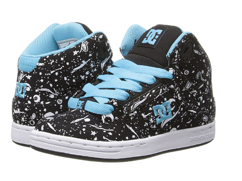 DC Kids - Rebound SP (Little Kid/Big Kid) (Black/White Print) Girls Shoes