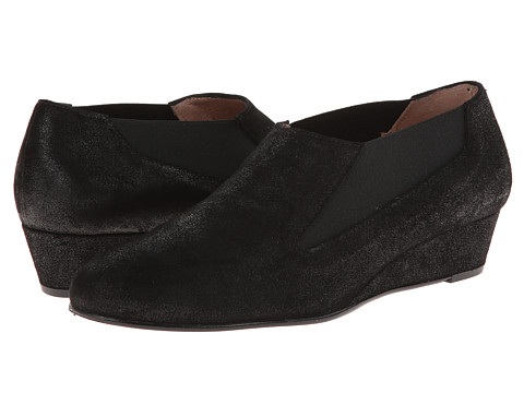 French Sole - Mozart (Black Distressed Leather) Women