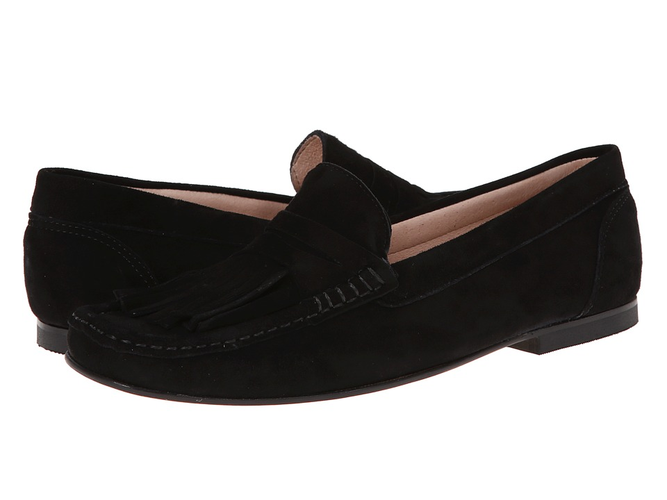 French Sole - Mates (Black Suede) Women's Shoes