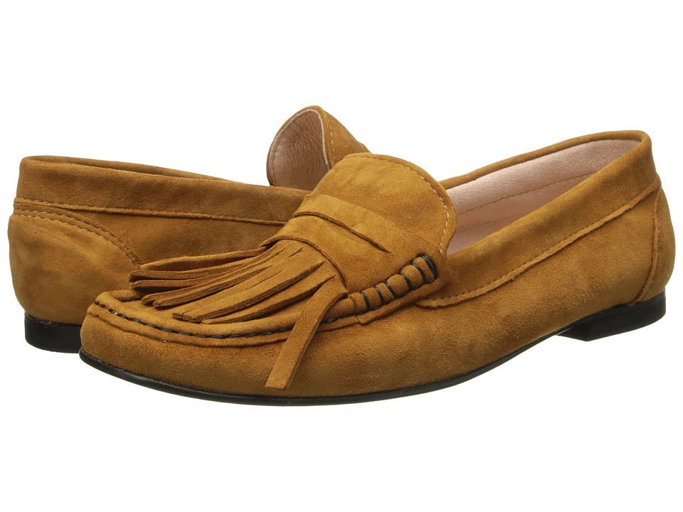 French Sole - Mates (Cognac Suede) Women's Shoes