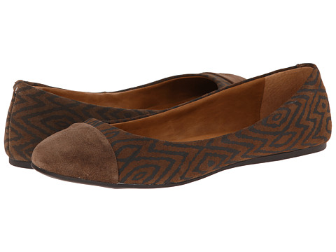 Lucky Brand - Brielly (Dark Earth Evelyn Tribal Cow) Women's Flat Shoes