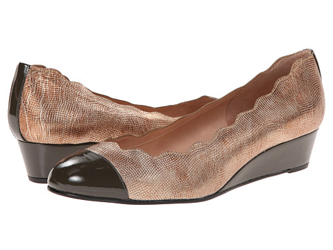French Sole - Miles (Taupe Pebbles w/ Taupe Patent Tip) Women