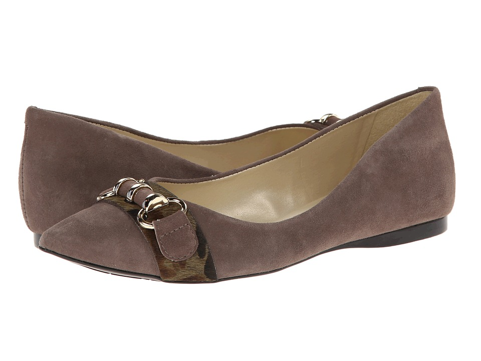 French Sole - Moore (Taupe Suede w/Haircalf) Women's Shoes