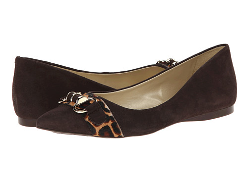 French Sole - Moore (Brown Suede w/Haircalf) Women