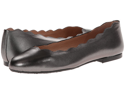 French Sole - Jigsaw (Pewter Metallic) Women's Flat Shoes