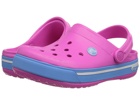 Crocs Kids - Crocband II.5 (Toddler/Little Kid) (Neon Magenta/Bluebell) Kids Shoes