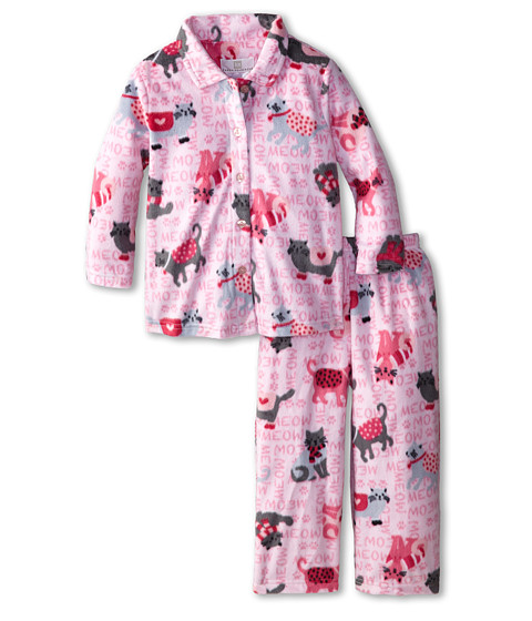 Karen Neuburger - L/S Classic PJ (Toddler/Little Kids) (Cat Light Pink) Pajama Sets