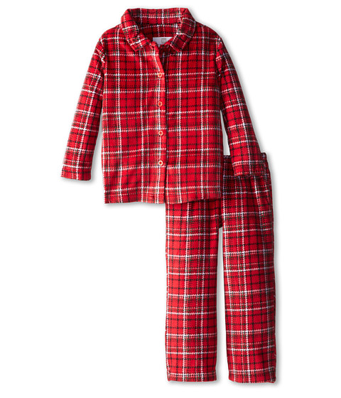 Karen Neuburger - L/S Classic PJ (Toddler/Little Kids) (Plaid Red) Pajama Sets