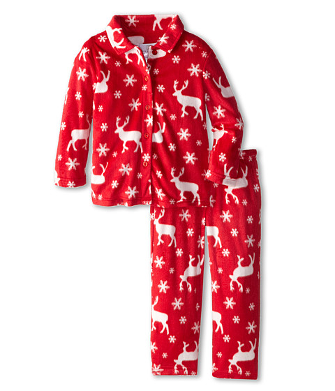 Karen Neuburger - L/S Classic PJ (Toddler/Little Kids) (Moose Red) Pajama Sets