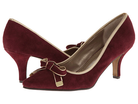 Adrienne Vittadini - Hereford (Red Kid Suede Metallic) Women's Slip-on Dress Shoes