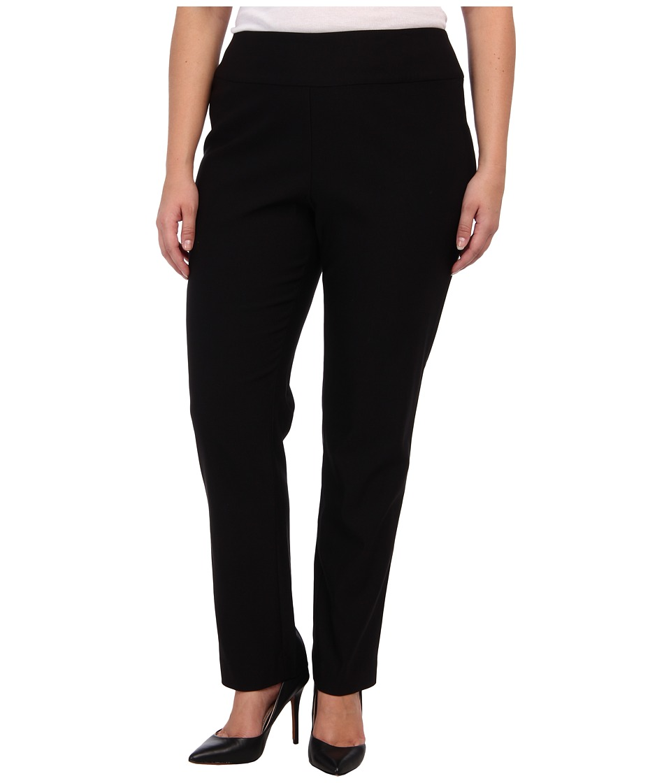 NIC+ZOE - Plus Size Wonder Stretch Pant (Black Onyx) Women's Casual Pants