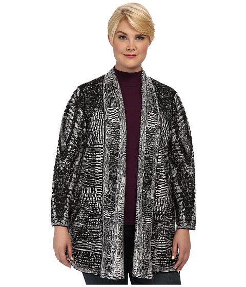 NIC+ZOE - Plus Size Digital Dreams Cardy (Multi) Women