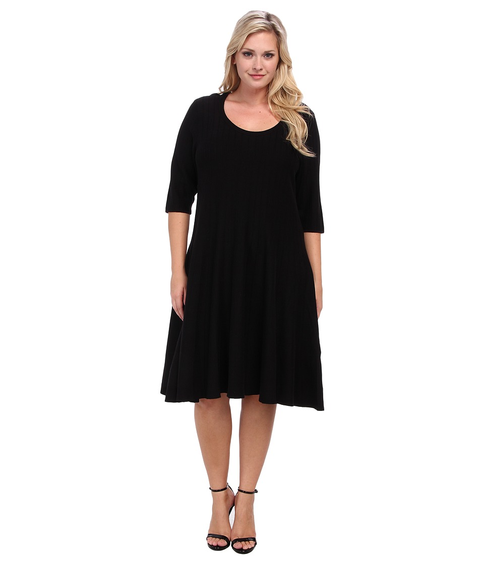 NIC+ZOE - Plus Size Twirl Dress (Black Onyx) Women's Dress