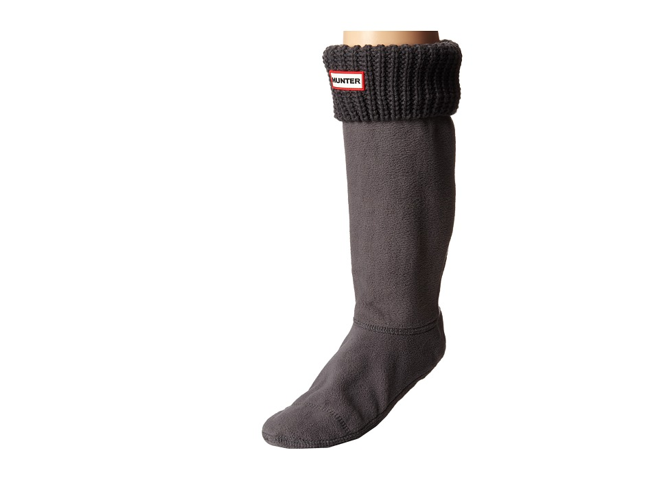 Hunter - Half Cardigan Boot Socks (Slate) Women's Crew Cut Socks Shoes