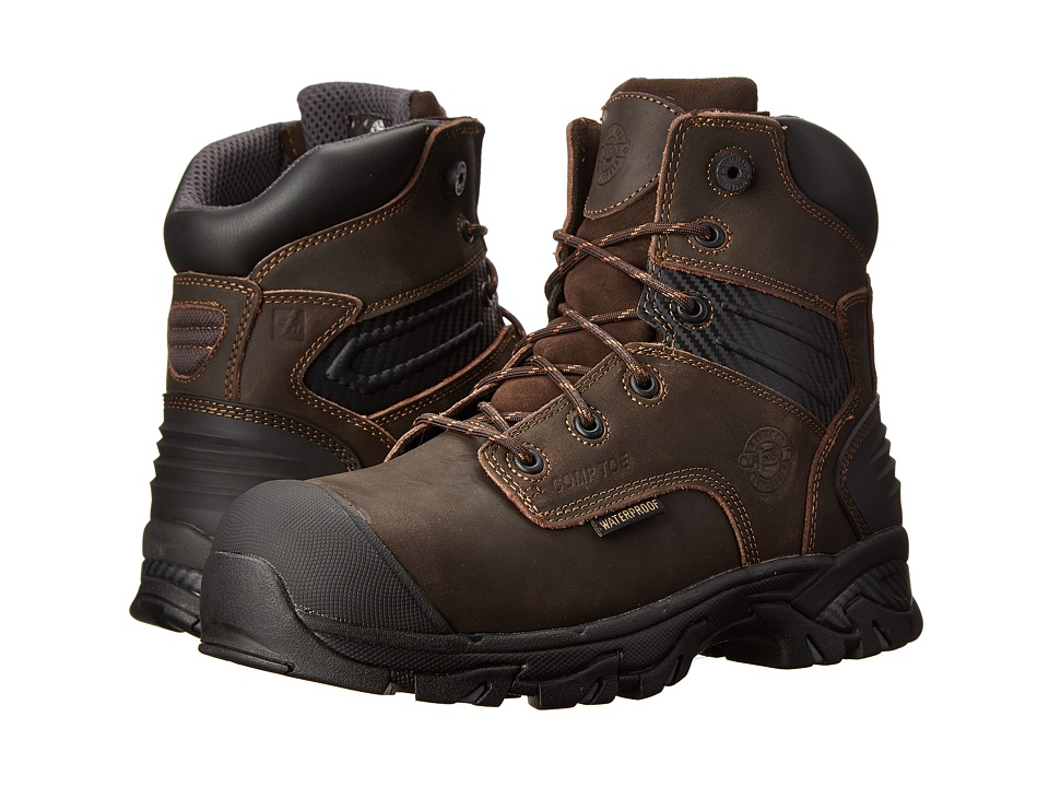 Justin - WK104-Waterproof Composite Toe (Brawny Brown) Men's Work Boots