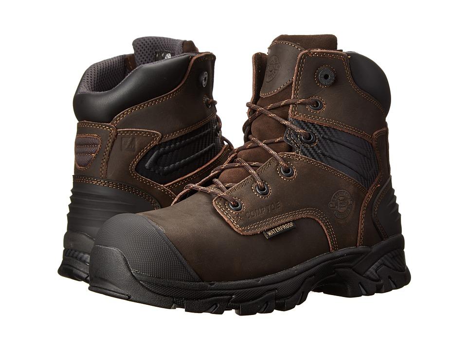 Justin WK104-Waterproof Composite Toe (Brawny Brown) Men