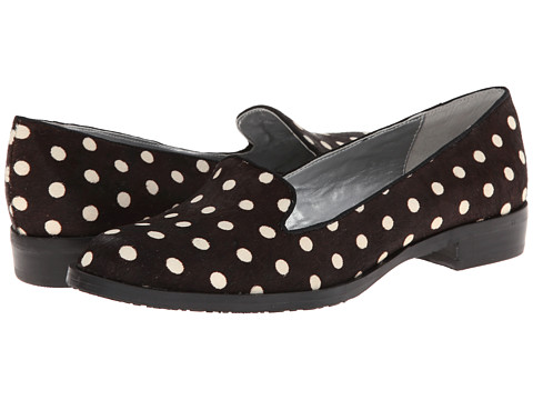 Adrienne Vittadini - AV-Philip (Black/White Dot Hair Calf) Women's Shoes