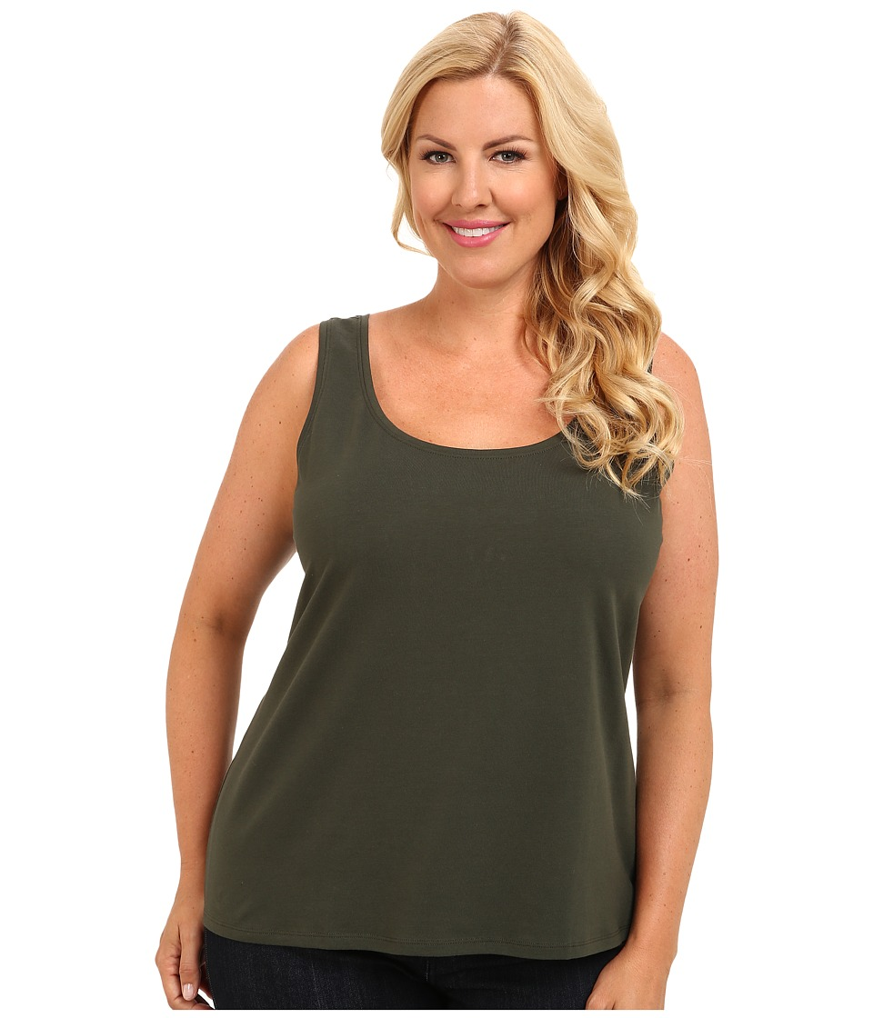 NIC+ZOE - Plus Size Perfect Tank '14 (Dark Olive) Women's Sleeveless