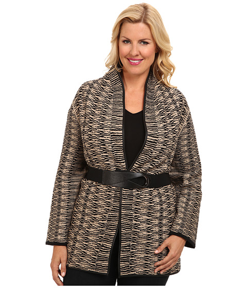 NIC+ZOE - Plus Size Jazz Age Jacket (Multi) Women's Coat