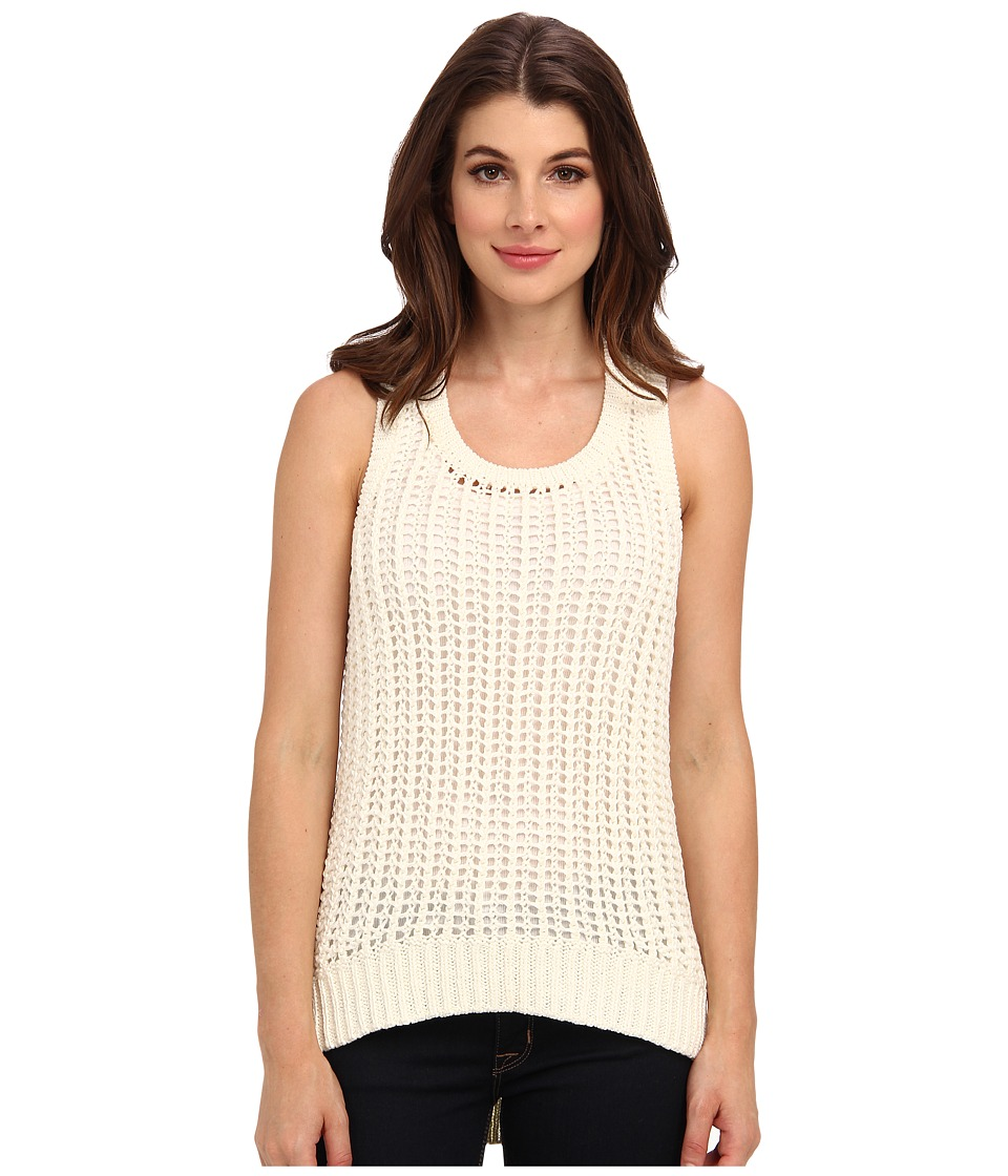 MICHAEL Michael Kors - Elliptical Racer Tank (Cream) Women's Sleeveless