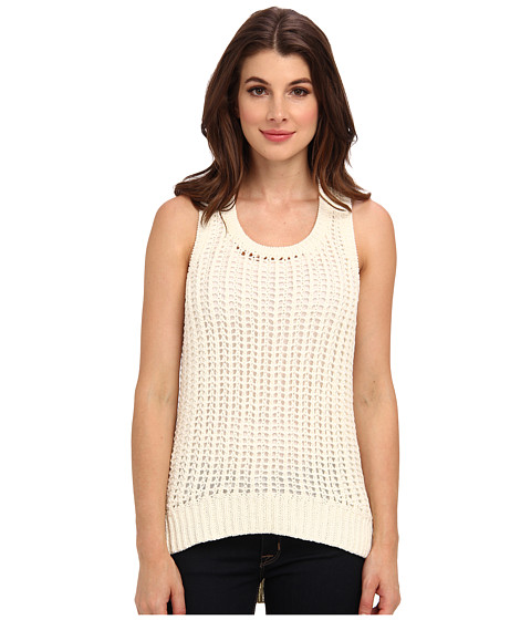 MICHAEL Michael Kors - Elliptical Racer Tank (Cream) Women