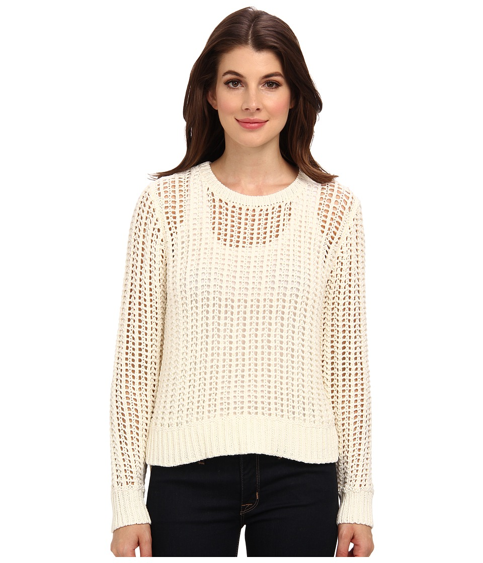 MICHAEL Michael Kors - L/S Hi/Low Hem Sweater (Cream) Women's Sweater